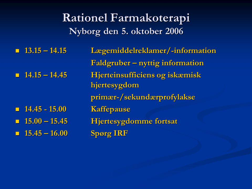 Rationel Farmakoterapi Nyborg den 5.