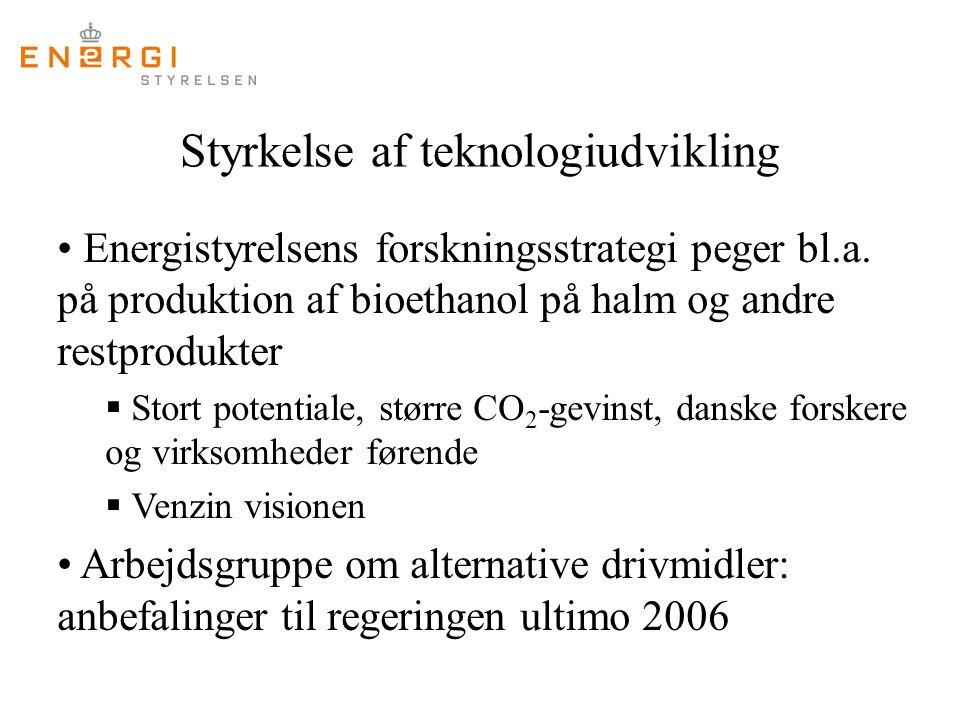 Styrkelse af teknologiudvikling Energistyrelsens forskningsstrategi peger bl.a.