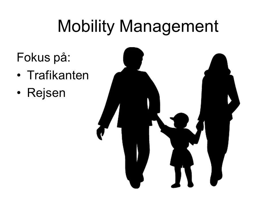 Mobility Management Fokus på: Trafikanten Rejsen