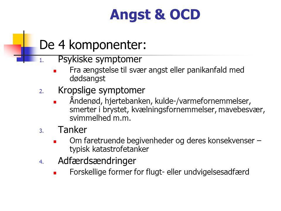 Angst & OCD De 4 komponenter: 1.