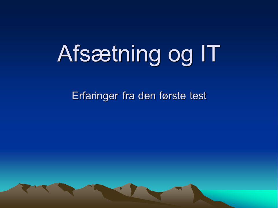 Afsætning og IT Erfaringer fra den første test