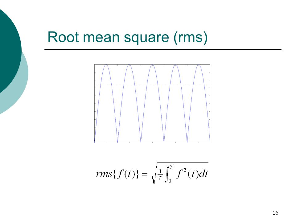 16 Root mean square (rms)