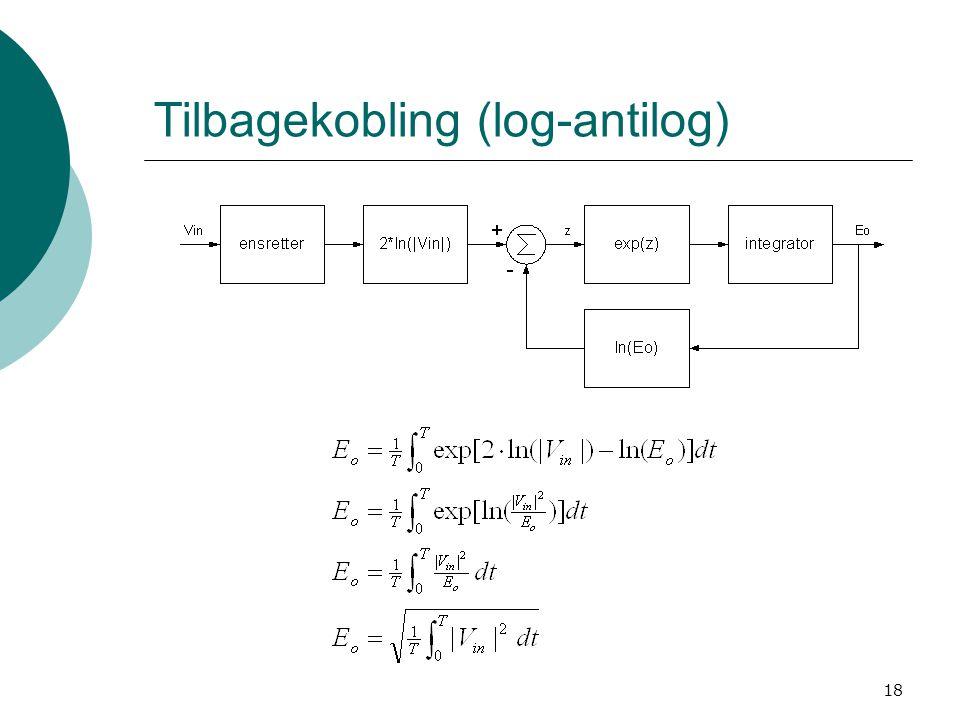 18 Tilbagekobling (log-antilog)