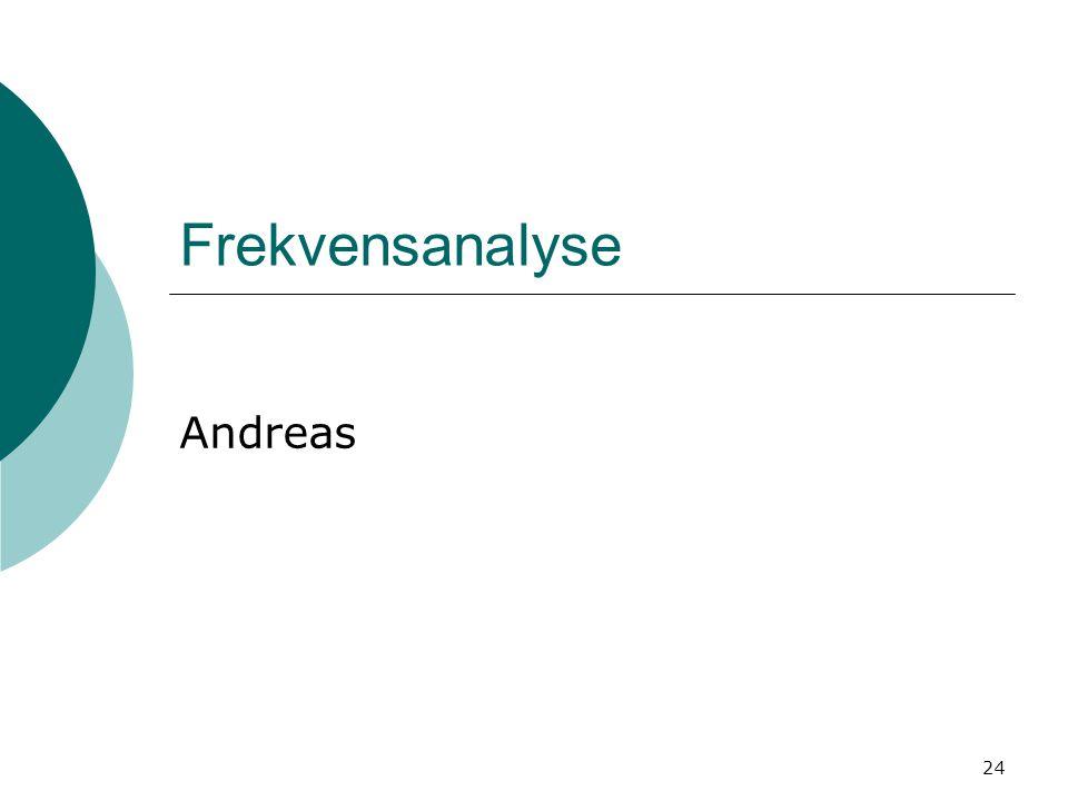 24 Frekvensanalyse Andreas