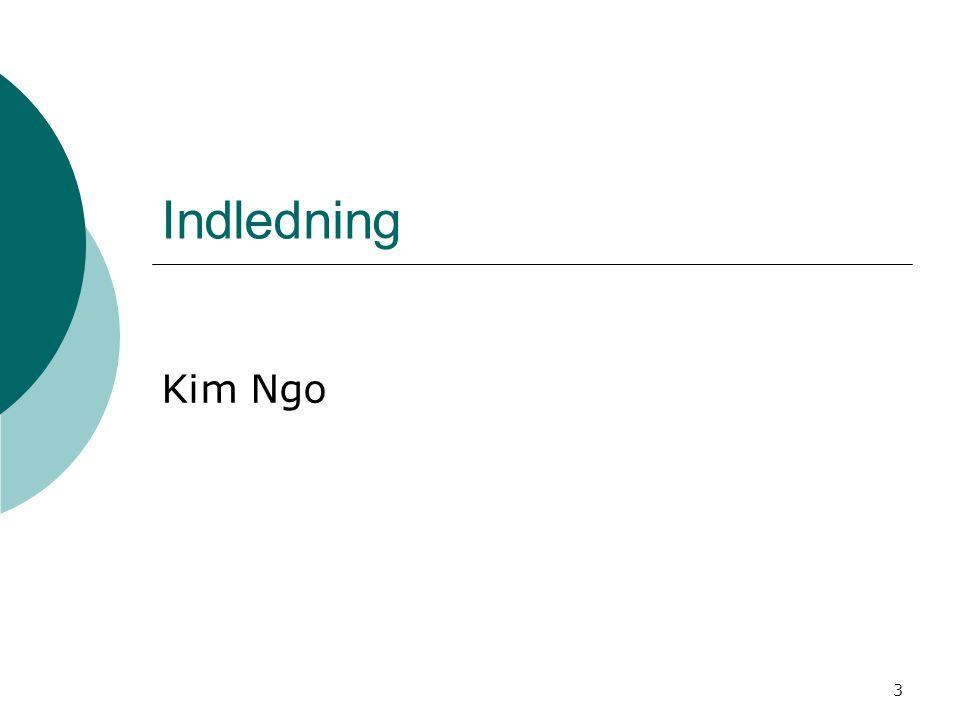 3 Indledning Kim Ngo