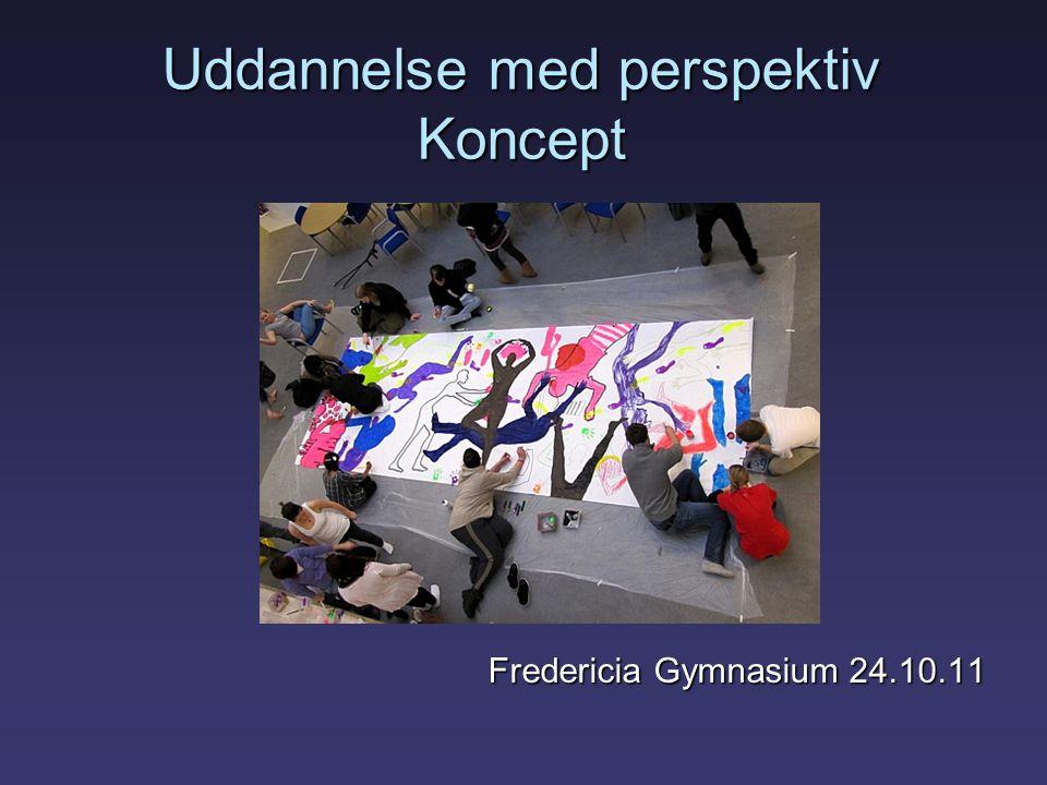 Uddannelse med perspektiv Koncept Fredericia Gymnasium 24.10.11 Fredericia Gymnasium 24.10.11