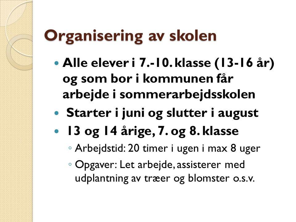 Organisering av skolen Alle elever i 7.-10.