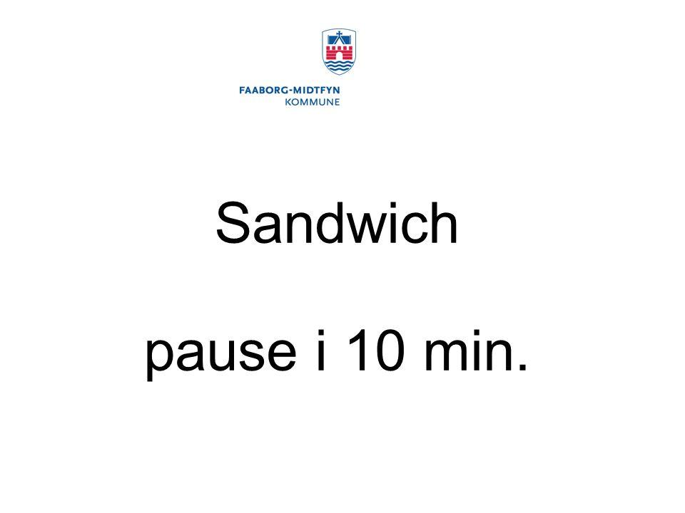 Sandwich pause i 10 min.