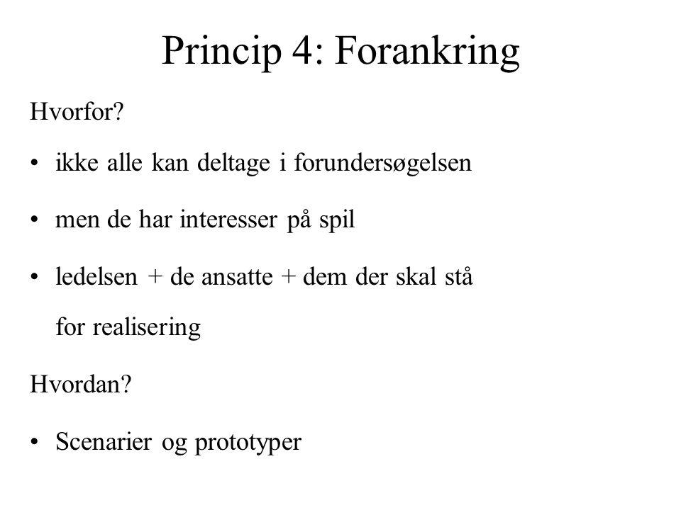 Princip 4: Forankring Hvorfor.