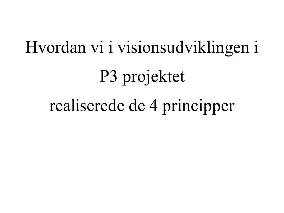 Hvordan vi i visionsudviklingen i P3 projektet realiserede de 4 principper