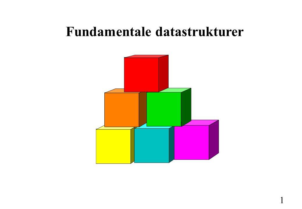 1 Fundamentale datastrukturer