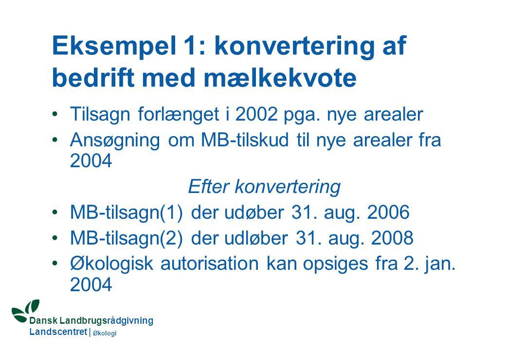 Dansk Landbrugsrådgivning Landscentret | Økologi Overgangsregler 2003 Økologer kan søge om MB- og OM-tilsagn fra 1.