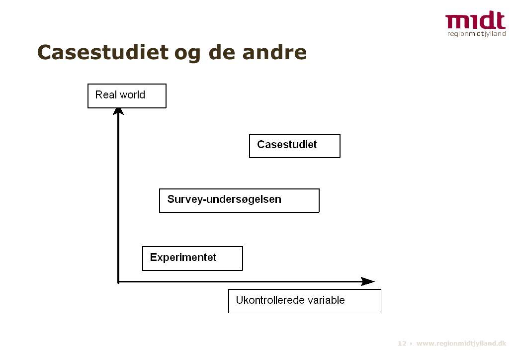 12 ▪ www.regionmidtjylland.dk Casestudiet og de andre