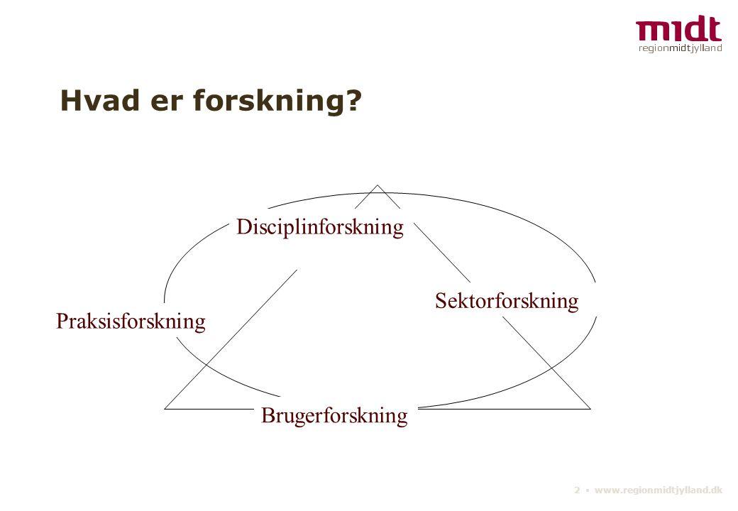 2 ▪ www.regionmidtjylland.dk Hvad er forskning.