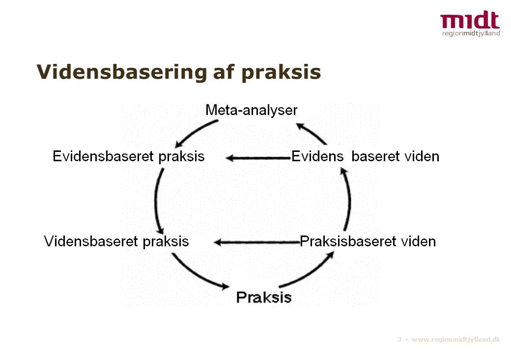 3 ▪ www.regionmidtjylland.dk Vidensbasering af praksis