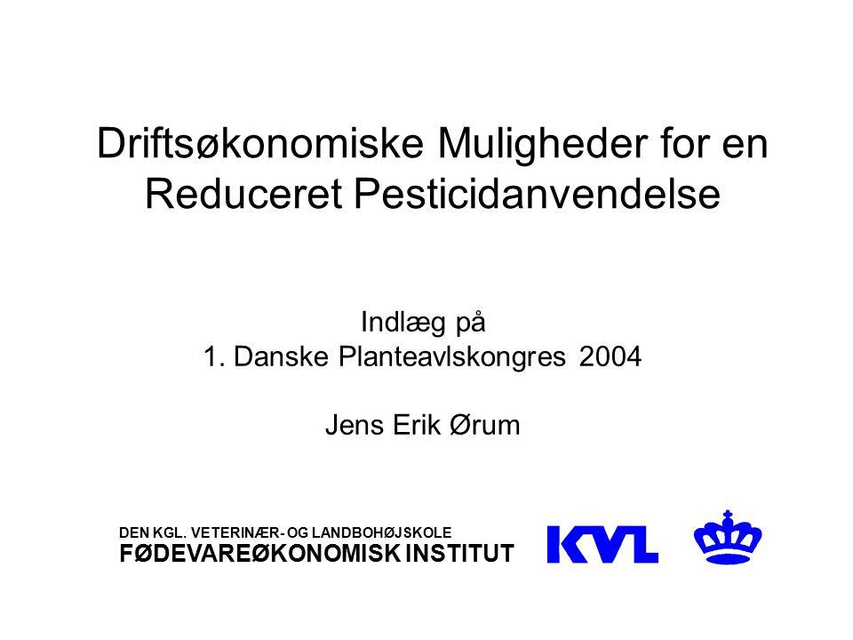 Driftsøkonomiske Muligheder for en Reduceret Pesticidanvendelse Indlæg på 1.