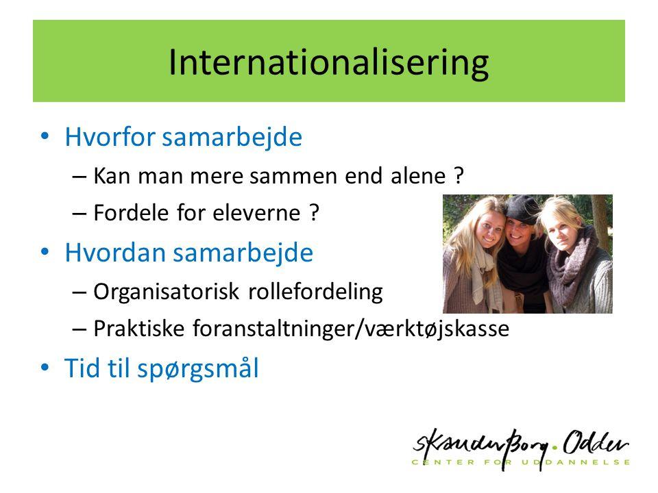 Internationalisering Hvorfor samarbejde – Kan man mere sammen end alene .