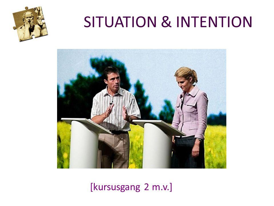 SITUATION & INTENTION [kursusgang 2 m.v.]