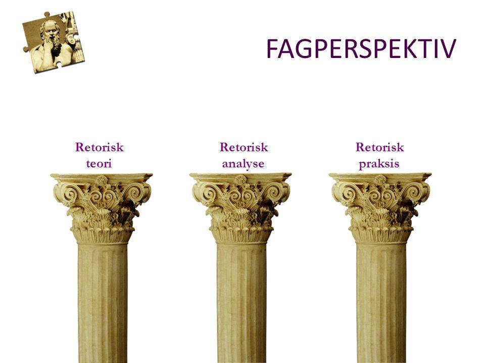 Retorisk analyse Retorisk teori Retorisk praksis FAGPERSPEKTIV