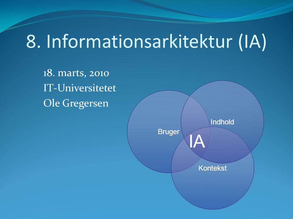 8. Informationsarkitektur (IA) 18.