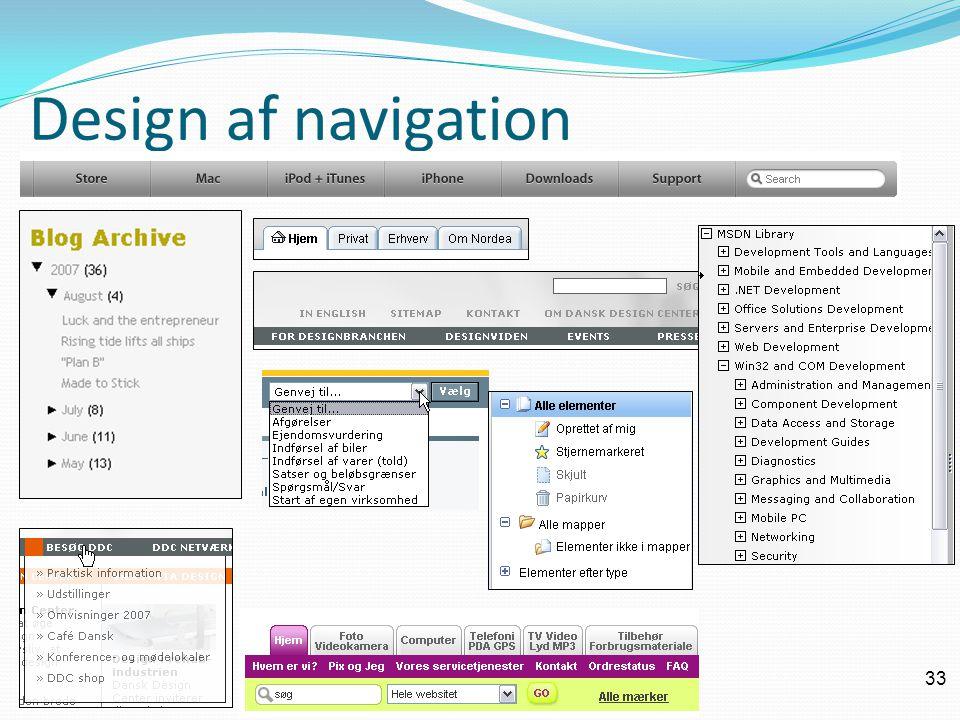 33 Design af navigation