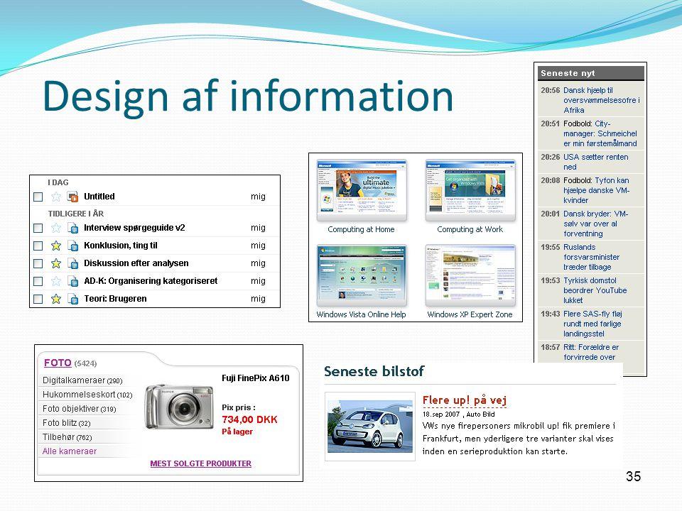 35 Design af information