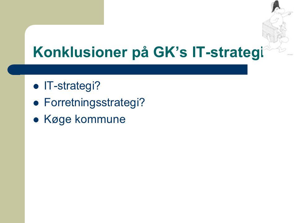 Konklusioner på GK's IT-strategi IT-strategi Forretningsstrategi Køge kommune