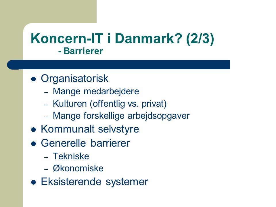 Koncern-IT i Danmark.