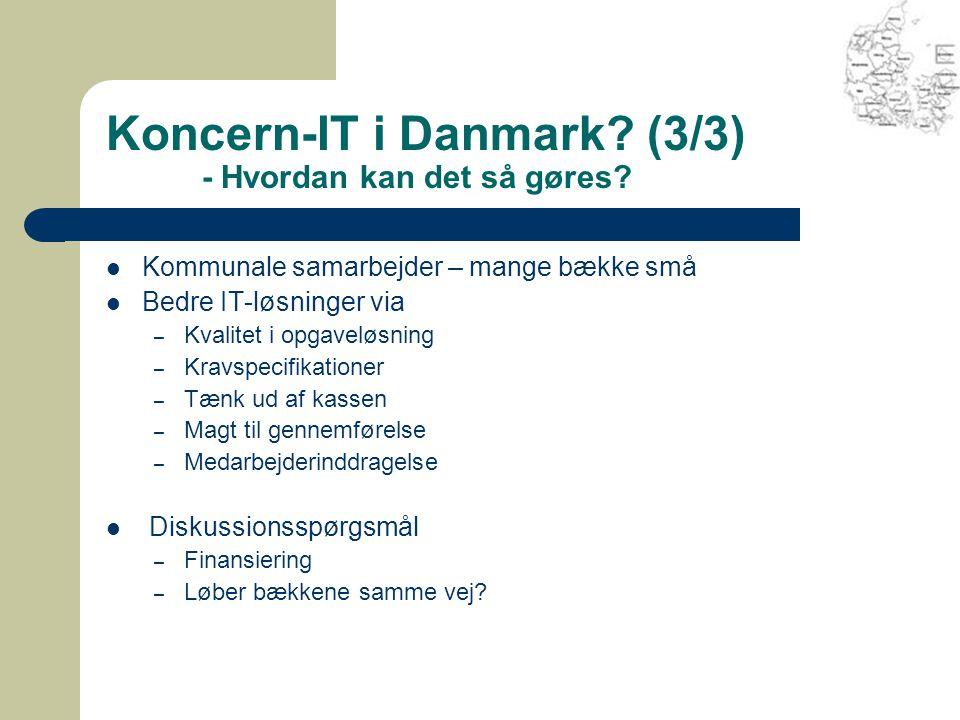 Koncern-IT i Danmark. (3/3) - Hvordan kan det så gøres.