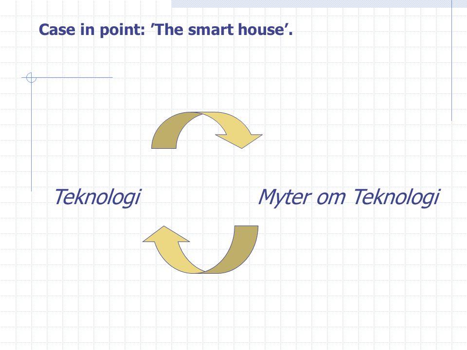 Case in point: 'The smart house'. TeknologiMyter om Teknologi
