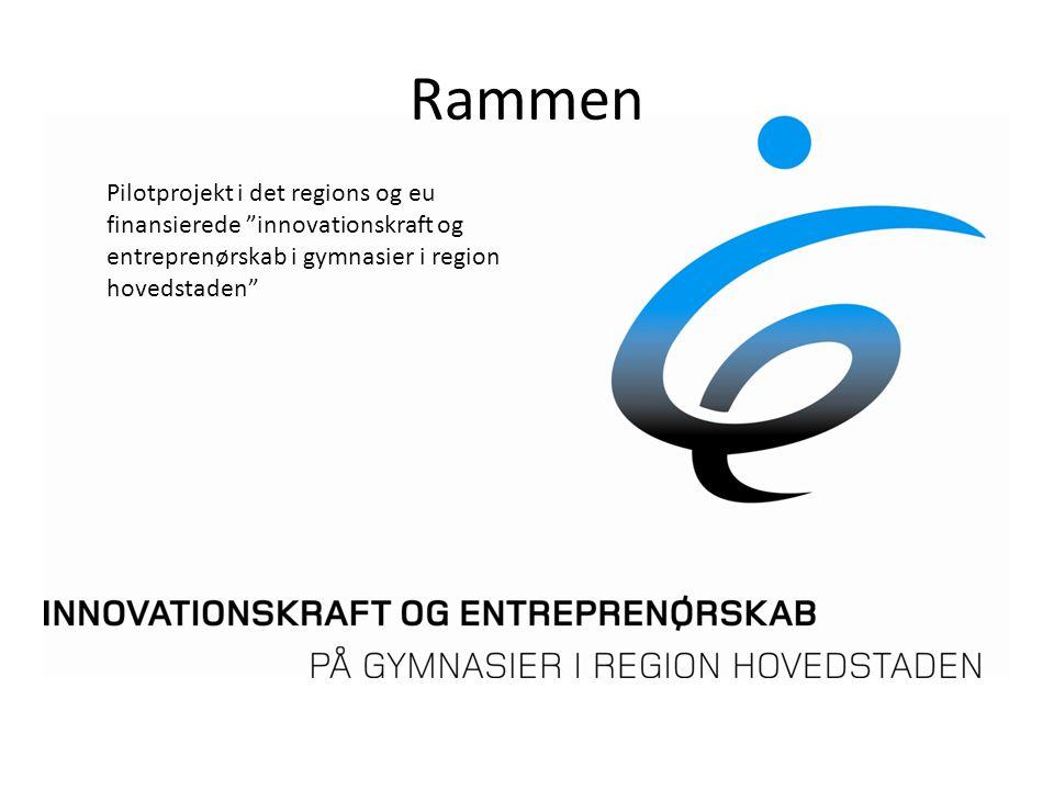Rammen Pilotprojekt i det regions og eu finansierede innovationskraft og entreprenørskab i gymnasier i region hovedstaden