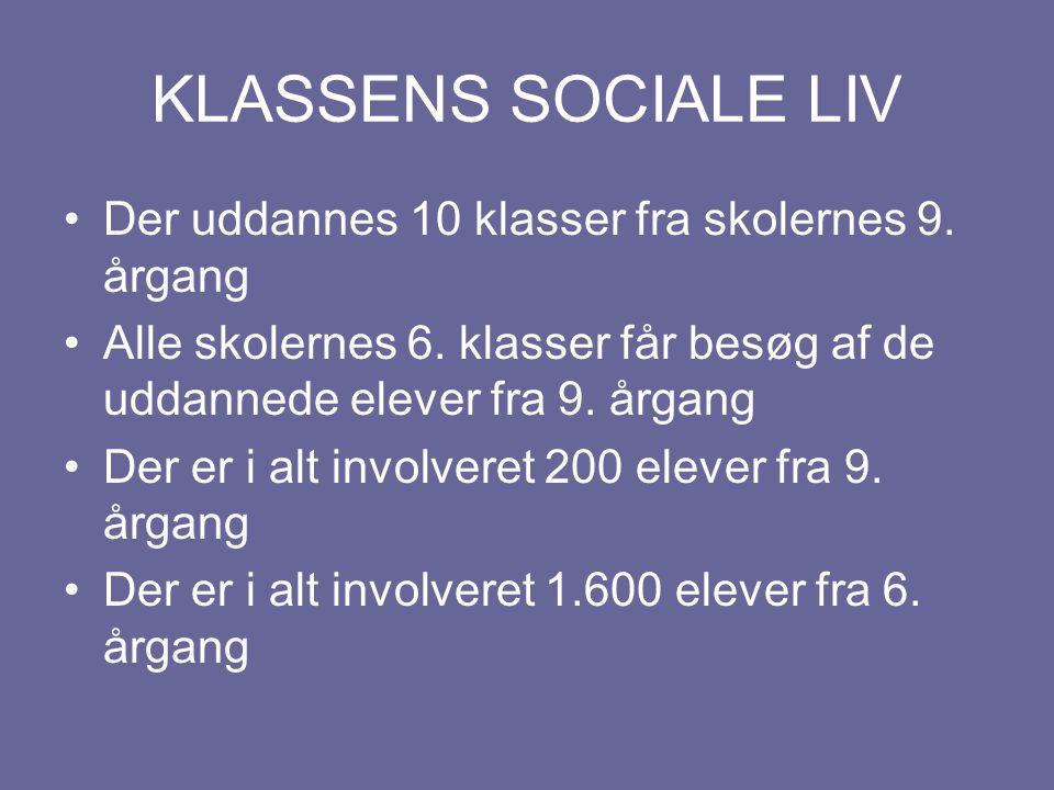 KLASSENS SOCIALE LIV Der uddannes 10 klasser fra skolernes 9.