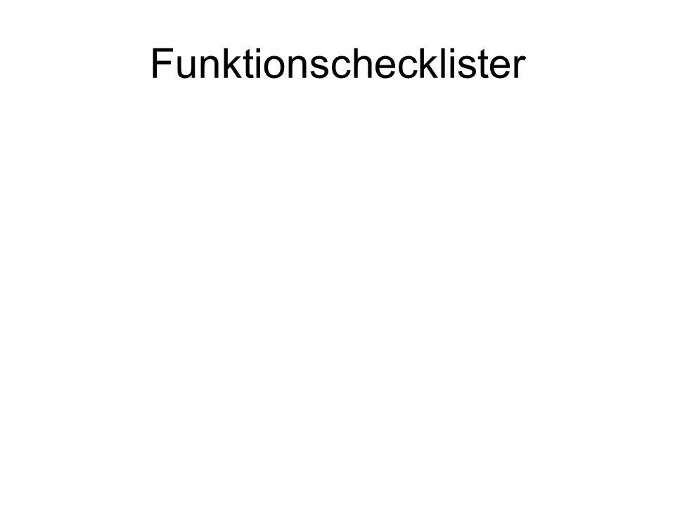 Funktionschecklister
