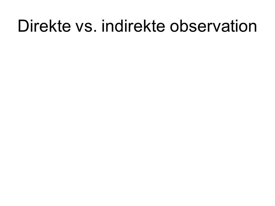 Direkte vs. indirekte observation