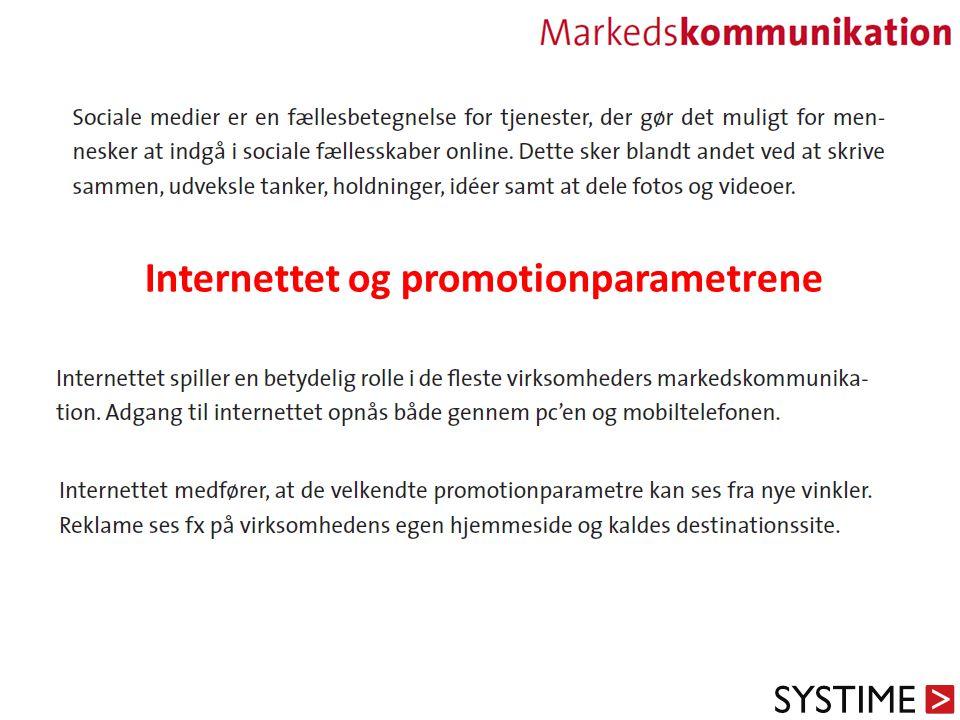 Internettet og promotionparametrene