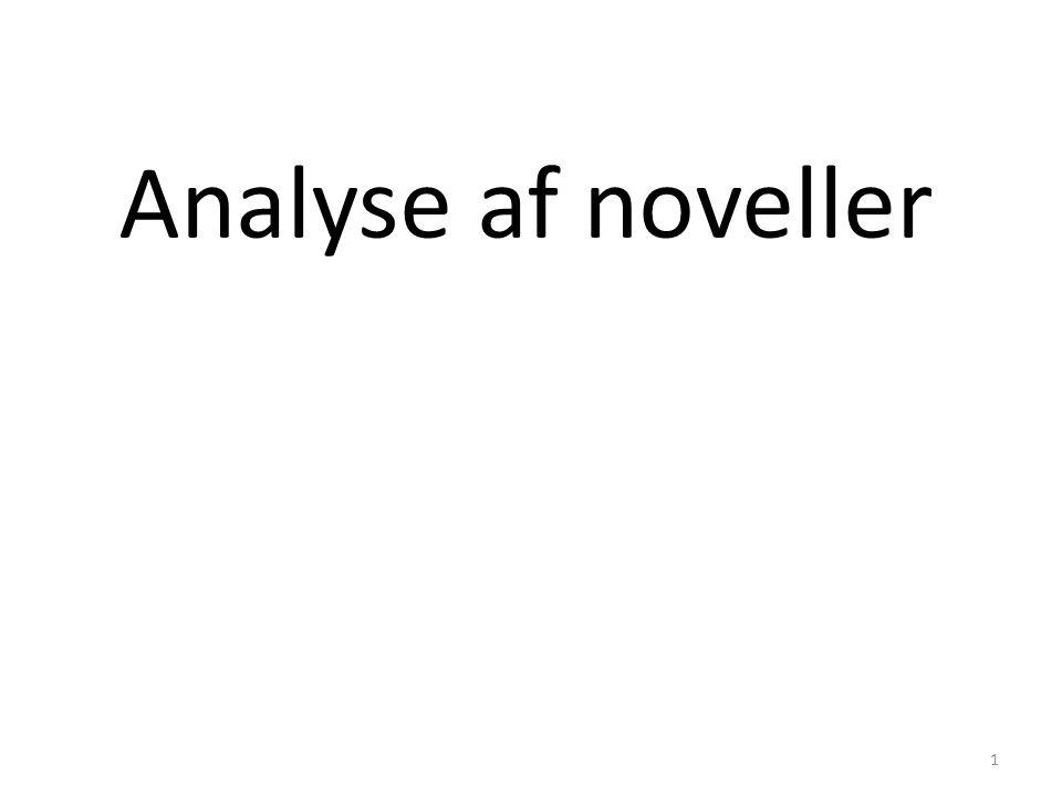 Analyse af noveller 1