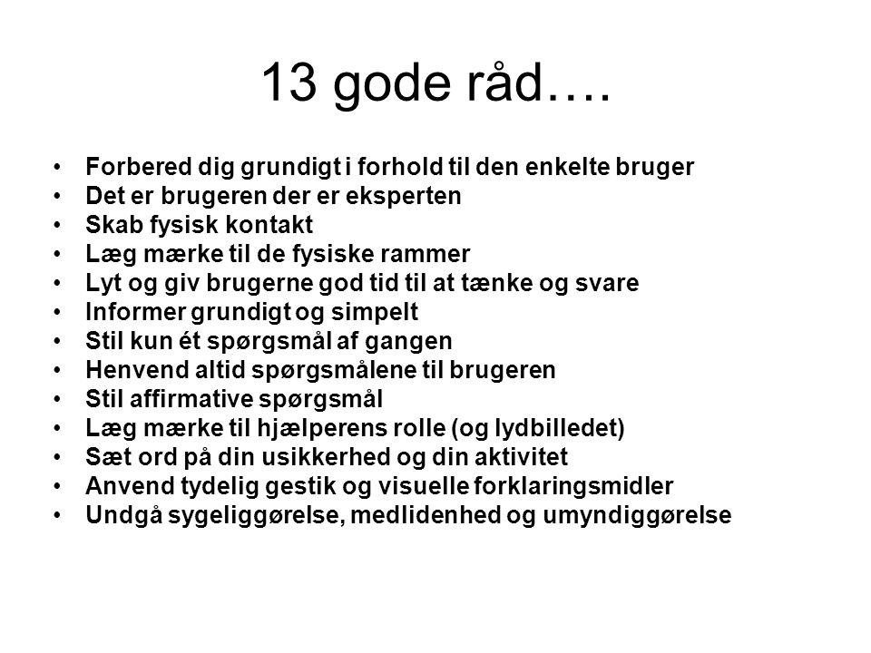 13 gode råd….