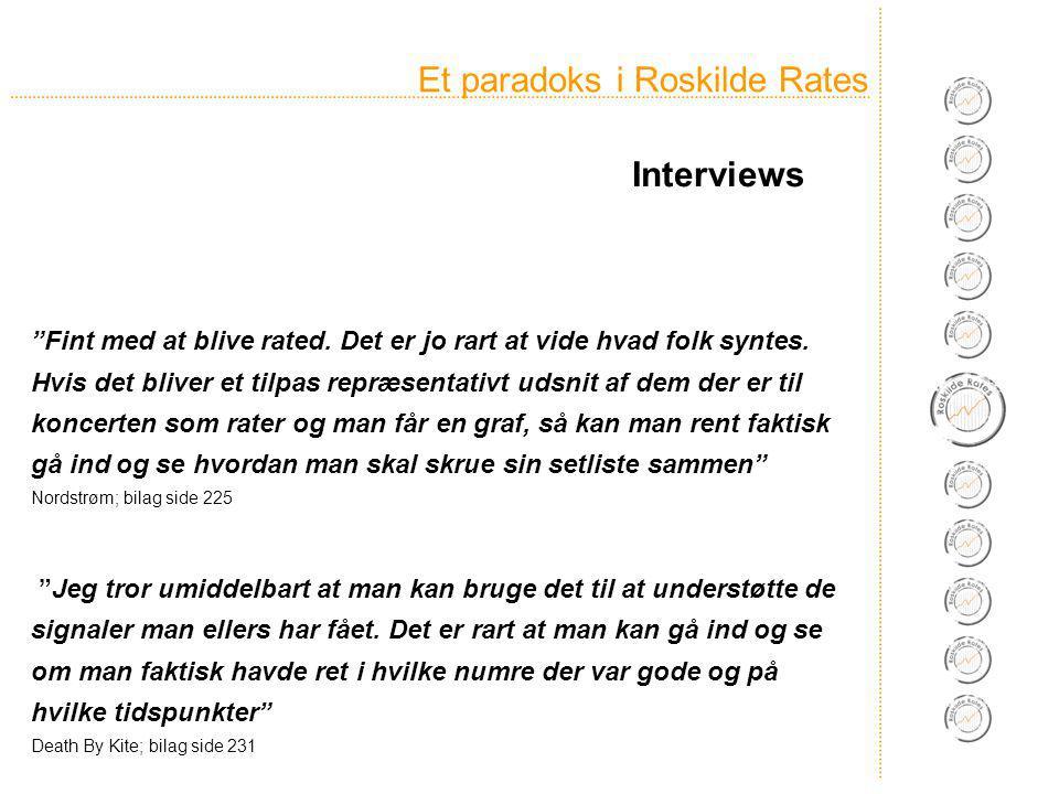 Et paradoks i Roskilde Rates Fint med at blive rated.