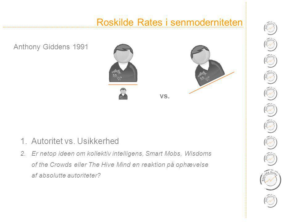 Roskilde Rates i senmoderniteten 1.Autoritet vs.