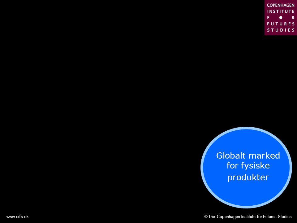 © The Copenhagen Institute for Futures Studieswww.cifs.dk Globalt marked for fysiske produkter