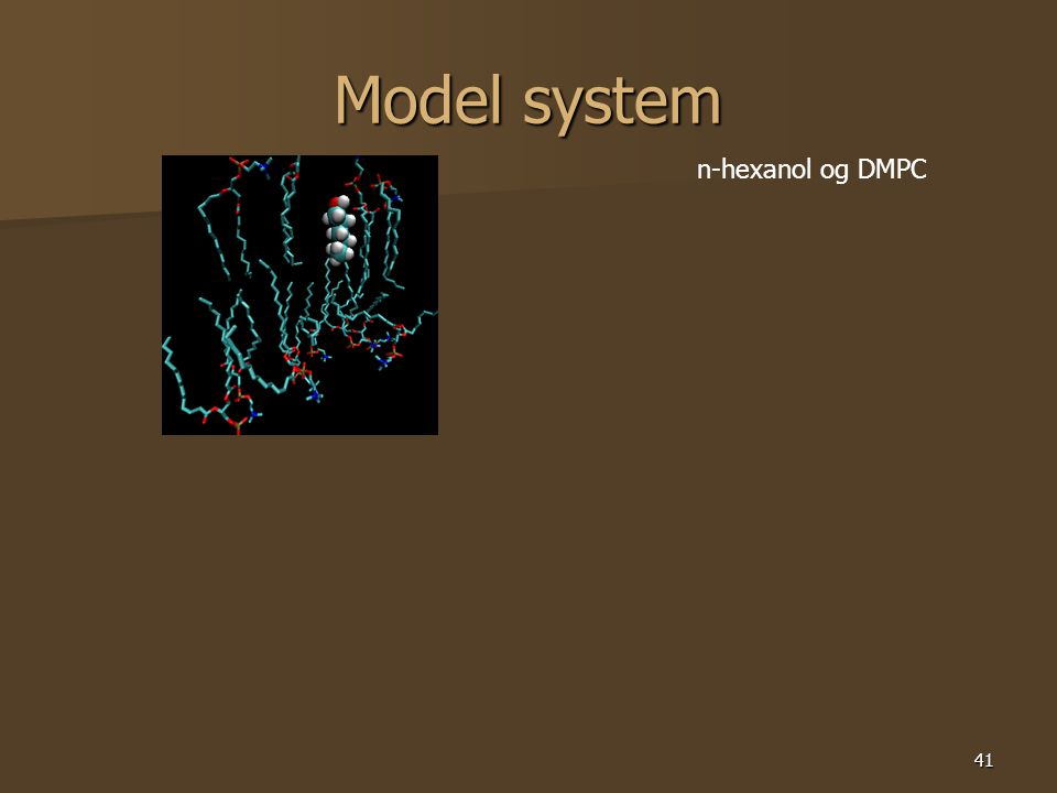 41 Model system n-hexanol og DMPC