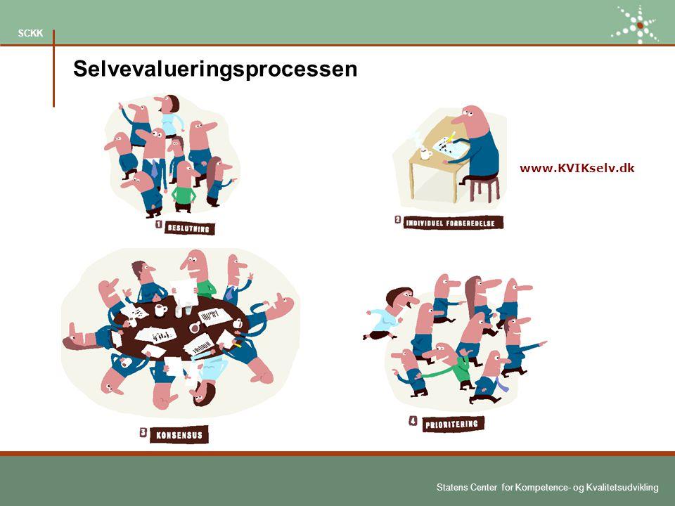 Statens Center for Kompetence- og Kvalitetsudvikling SCKK www.KVIKselv.dk Selvevalueringsprocessen