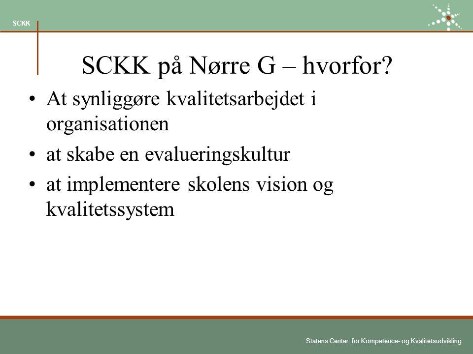 Statens Center for Kompetence- og Kvalitetsudvikling SCKK SCKK på Nørre G – hvorfor.