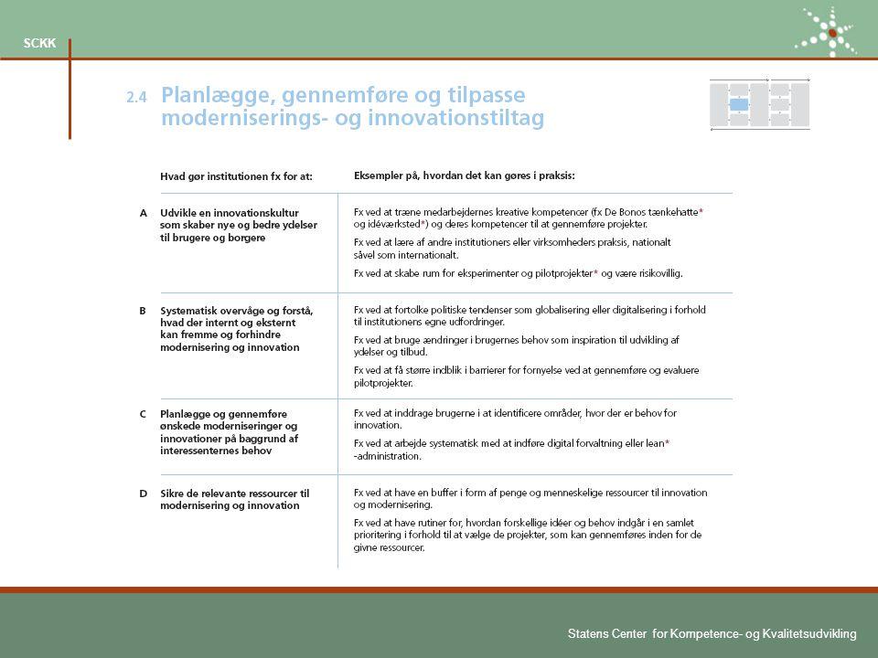 Statens Center for Kompetence- og Kvalitetsudvikling SCKK