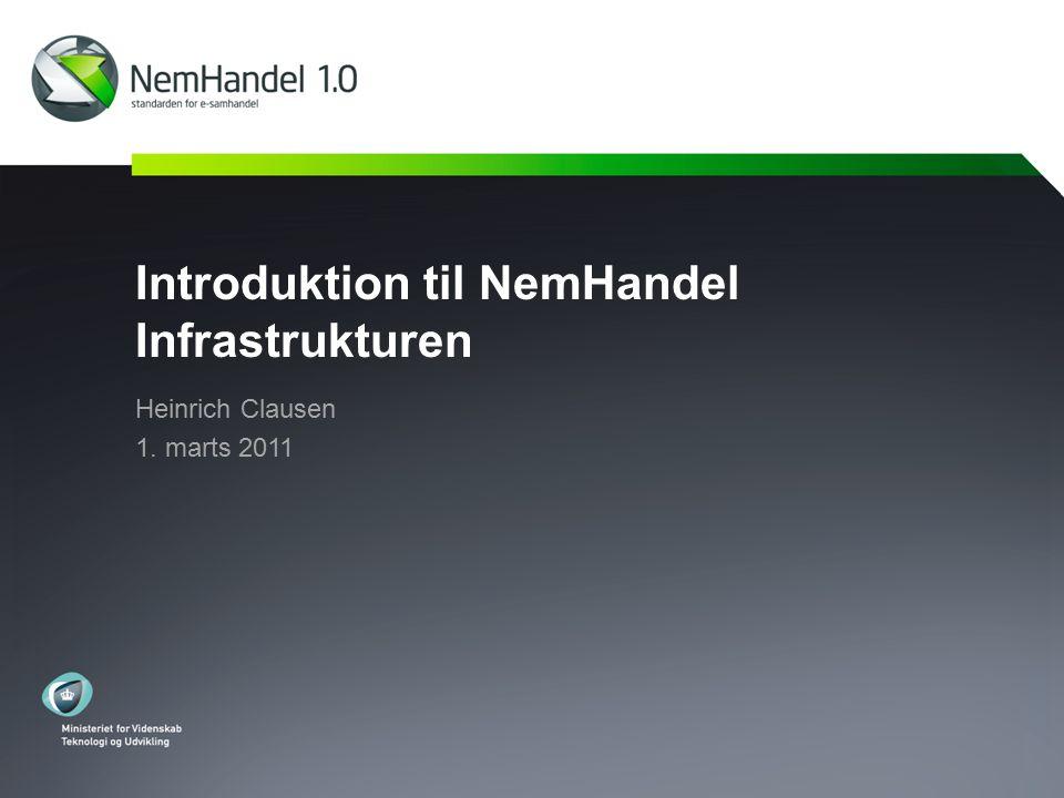 Introduktion til NemHandel Infrastrukturen Heinrich Clausen 1. marts 2011
