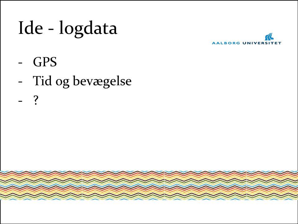Ide - logdata -GPS -Tid og bevægelse -