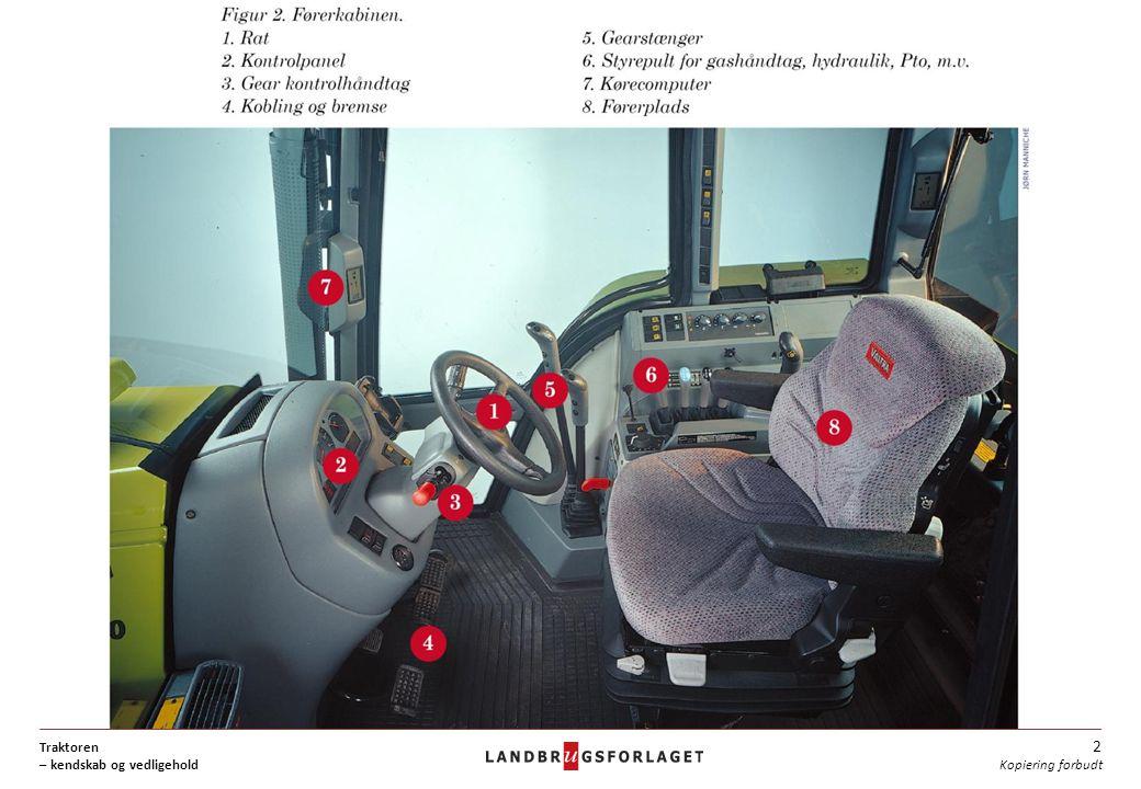 Traktoren – kendskab og vedligehold 2 Kopiering forbudt
