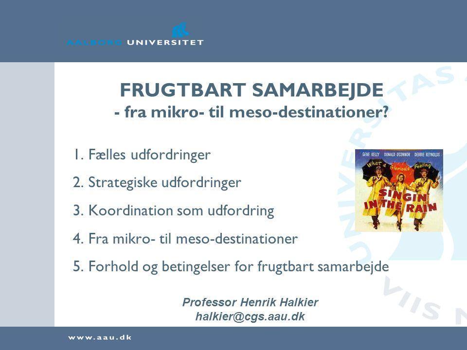 FRUGTBART SAMARBEJDE - fra mikro- til meso-destinationer.