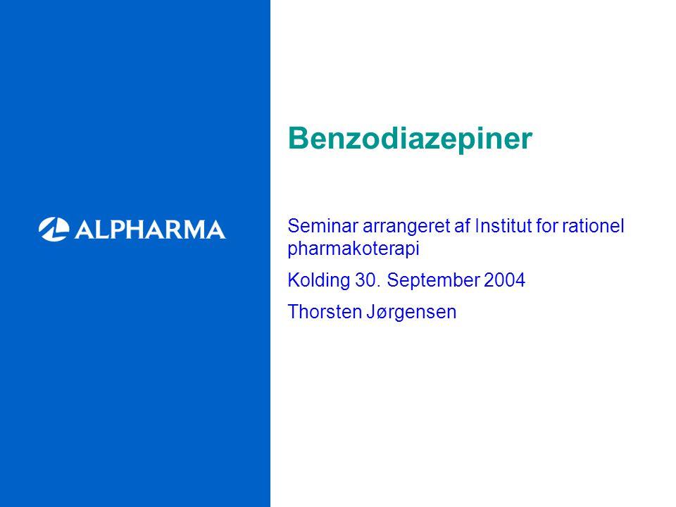 Benzodiazepiner Seminar arrangeret af Institut for rationel pharmakoterapi Kolding 30.