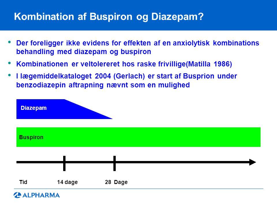 Kombination af Buspiron og Diazepam.
